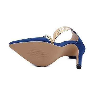 Talons pour femmes / 2017 New Arrival / Fashion Style / Club Dress / Leather / Party & Evening / Casual / Hollow-out / Black / Blue Blue