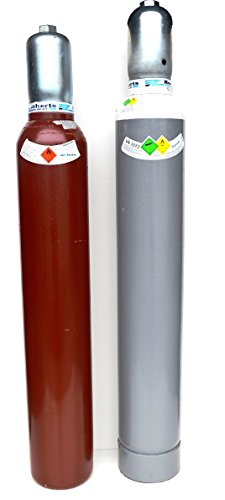 Acetylen + Sauerstoff Gasflaschen Pärchen 10 Liter Eigentumsflasche Neutral