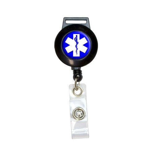 Star Of Life–Medical Gesundheit EMT RN MD Lanyard Retractable Reel Badge ID Kartenhalter - Emt-abzeichen