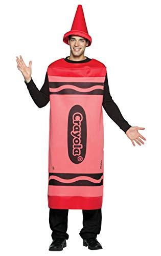 Crayon Red Kostüm Crayola - Crayola zeichnet - Erwachsene männlich Kostüm - Rot