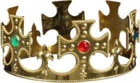 Orlob Königskrone in gold Krone zum König Kostüm an Karneval Fasching (Hexe König Kostüm Kind)