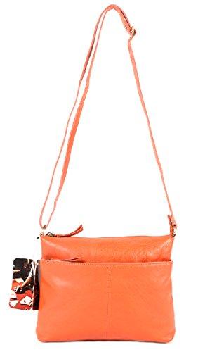 l96059 15 Orange le Craf Sac Étui Hello Kitty en Cuir fait main Petit sac à main à bandoulière
