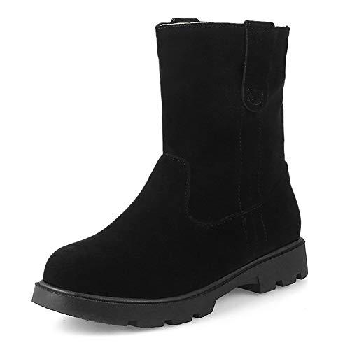 Frauen Flache Cowboy Martin Stiefeletten Casual Runde Zehe Slip-On Bootie Bequeme Daliy Walking Short Boots