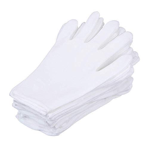 Mime Für Kleidung Kostüm - Bocotoer 12 Paar Soft-Hand Baumwolle Feuchtigkeitsspendende Handschuhe Arbeitshandschuhe Arbeitshandschuhe Arbeitshandschuhe Arbeitshandschuhe Größe XL weiß