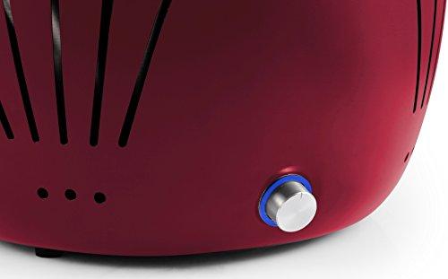 El Fuego rauchfreier Holzkohlegrill, Tulsa, rot, 34,2 x 34,2 x 21,5 cm, AY5253 - 3