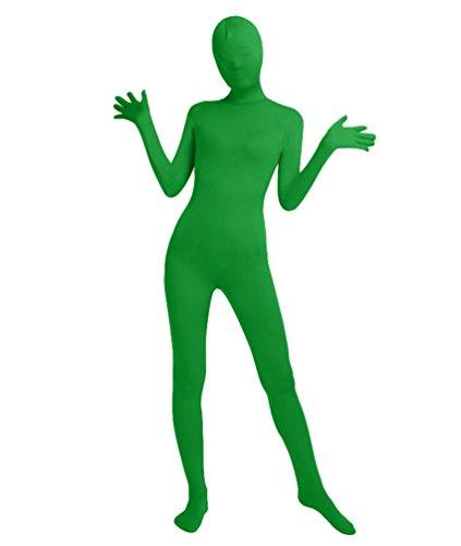 NiSeng Adulti e Bambini Lycra Pieno Corpo Costume Zentai Cosplay Completo Originale Costume Intero Tuta Verde XL