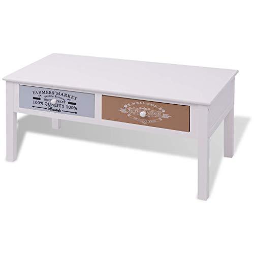 Generic .de Cou Table Basse en Bois avec tiroirs imprimés et tiroirs