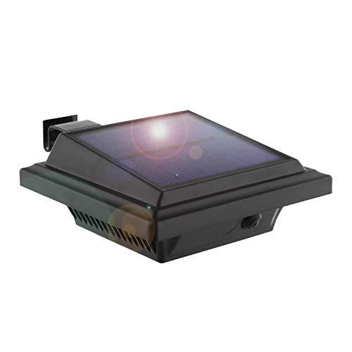 LED Solar Dachrinnenleuchte, KEENZO Solarlampen für Außen, 25LEDs Solarlicht, Auto ON/OFF, Schwarz,Warmes Weiß Licht