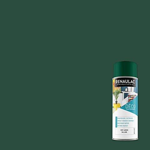 Renaulac Peinture Aérosol Déco multi-supports - Vert (Vert Jardin) - 400 ml (Ref: C-REAERDECB-0005-0L4)