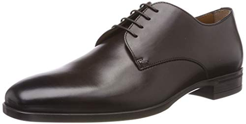 BOSS Kensington_Derb_bu, Herren Derby, Braun (Dark Brown 201), 43 EU (9 UK) - Boss Braun Hugo Leder