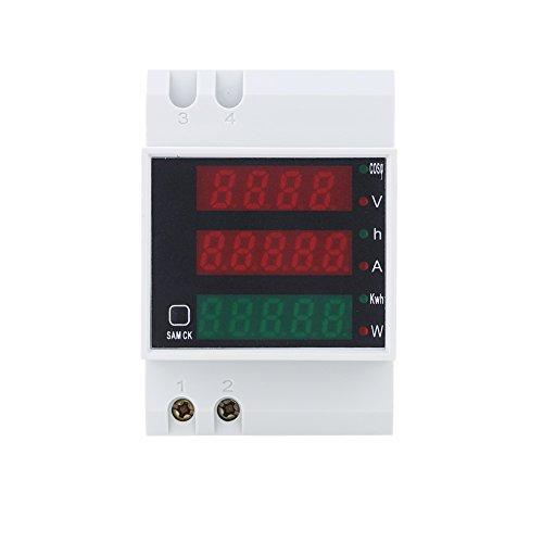 AC200-450V Carril DIN Digital de Voltaje de Corriente Voltímetro Medidor de Potencia Amperímetro
