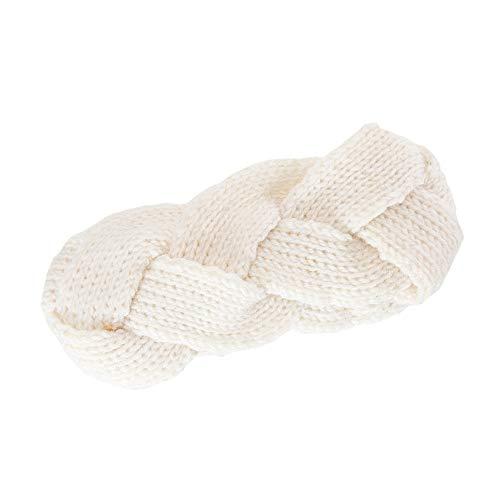 ASHOP Häkeln Kopfband Geflochten Winterwärmer Stirnbänder Haarband Headbands für Damen,Weiß