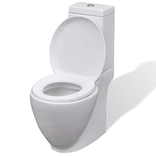 taofuzhuang WC Keramik Toilette Badezimmer Runde Toilette Weiß Heimwerkerbedarf Küchen- und Sanitärinstallationen Sanitärkeramik & Armaturen Toiletten & Bidets Toiletten -