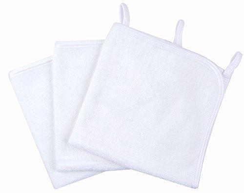 Kinhwa panno struccante per il viso in microfibra pulizia viso solo con acqua 30cm x 30cm 3 pezzi, colore bianca