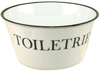 Primitive Country Toiletries Enamelware Enamel Bowl by MF Primitive Enamelware