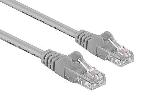 MutecPower Multicable, Cavo di rete UTP, Ethernet Cat5E Con Spina Rj45 Per Pc, Lan, - Grigio, 50 metri
