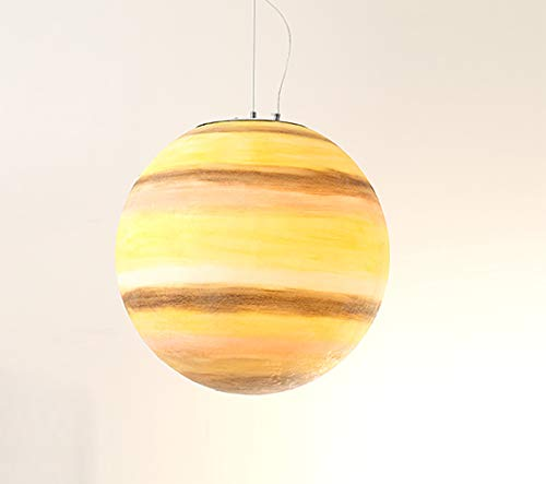 Universum Planetensystem Deckenleuchten - Modern Innen Kinderzimmer Leuchter Dachgeschoss Cafe Schlafzimmer Pendelleuchten(Birne Ist Nicht Enthalten) Saturn -