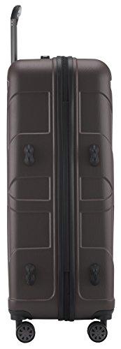 SUITLINE - Hartschalen-Koffer Koffer Trolley Rollkoffer Reisekoffer, TSA, 67 cm, 58 Liter, Titan -