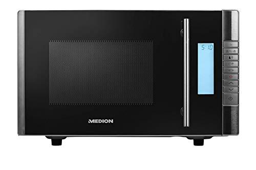 MEDION MD 14482 Mikrowelle mit Grill / 20L Garraum / 8 Automatikprogramme / Auftaufunktion / 800 Watt Mikrowellen- und 1000 Watt Grillleistung / Zeitschaltuhr / Grillrost