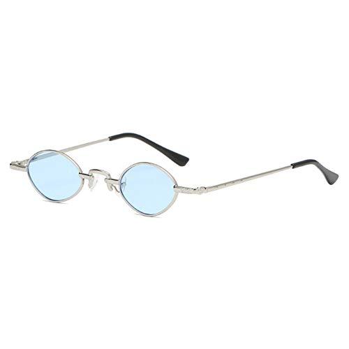 Wenkang Kleine ovale Sonnenbrille Frauen Männer Goldsplitter Metallrahmen Sonnenbrille Designer Klare Linse Rosa Rot Sonnenbrille Shades,2
