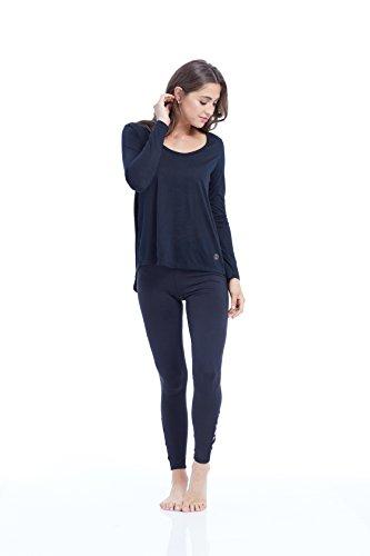 Balance Collection Damen Evy Top Lange Ärmel T-Shirt schwarz