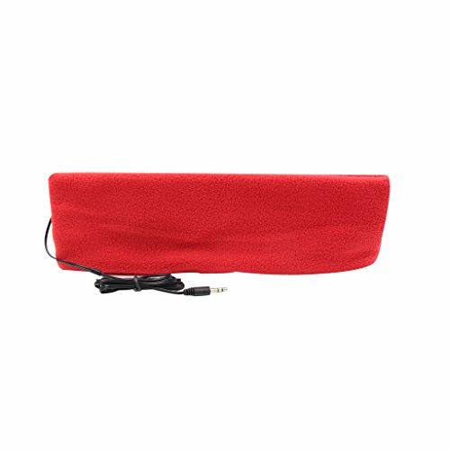 örer mit Stirnband, ultradünne Ohrhörer, besonders bequem, geeignet zum Einschlafen, für Flugreisen, die Arbeit, Sport oder bei Schlafproblemen rot ()
