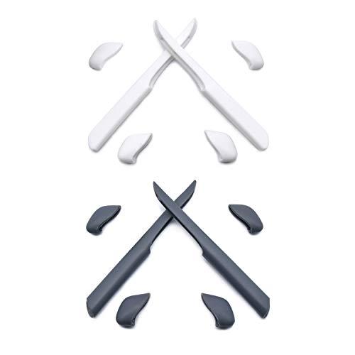 HKUCO Weiß/Grey Ersatz Silikonbein Set für Oakley Fast Jacket XL Sonnenbrille Gummi-Kit