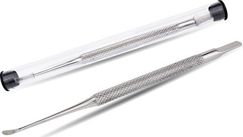Socialic Premium Nagelhautschieber & Nagelhautentferner und Nagelschaber aus Edelstahl - ideales Qualitätsprodukt für eine wohltuende Nagelpflege