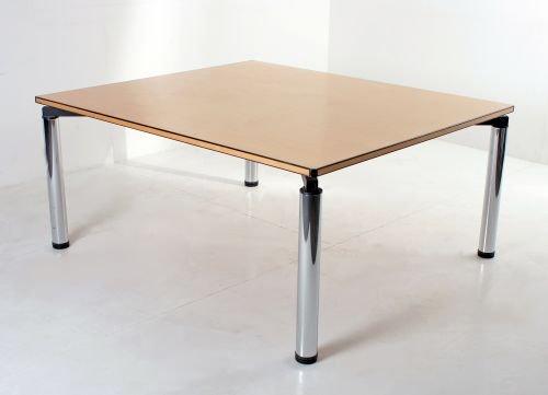 Besprechungs-/ Schreib-/ Konferenztisch Vitra, 160x140cm, Bucheplatte mit schwarzer Randapplikation