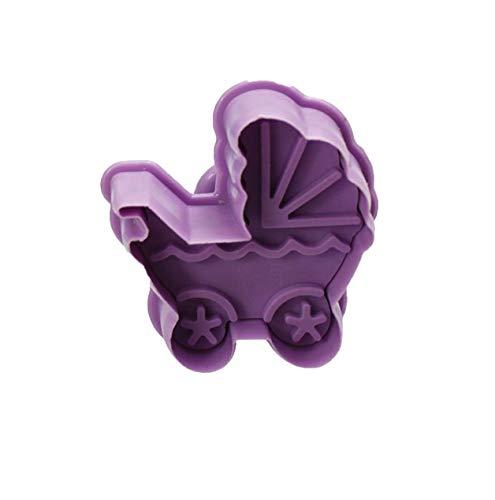 4 Stück Keks-Baby-Spielzeuge 3D Baby Kinderwagen Flasche Kekse Geschenk Toast Form Fondant Dekoration Werkzeug