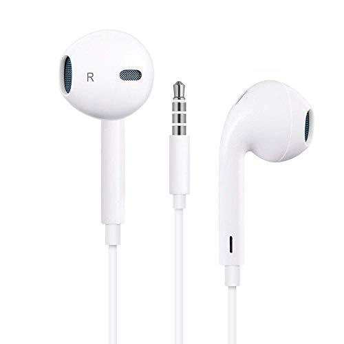 Auricolari con microfono auricolari premium cuffie stereo e cuffie con isolamento acustico per iphone/ipod/ipad/samsung galaxy/lg/htc (bianco)