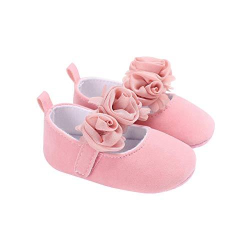 DEBAIJIA Bebé Niña Zapato de Fiesta Princesa con Cinta Mágica para 6-18 Meses Niños Recién Nacido...