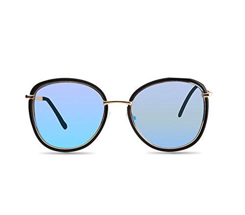 Wer Ich Bin Frau Neue Nautische Outdoor-Mode Große Kiste Optional Vierfarbige Sonnenbrille Polarisierte Fahr,Blue