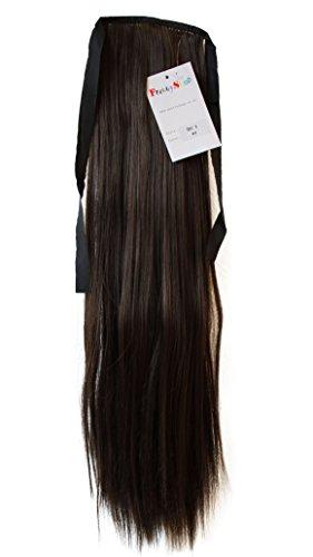 PRETTYSHOP Haarteil hairpiece Zopf Pferdeschwanz Haarverlängerung 60cm glatt diverse Farben (Zöpfe Pferdeschwanz)