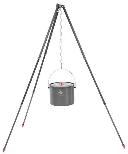 Robens Support en Aluminium avec Barre télescopique, Noir, 120 cm