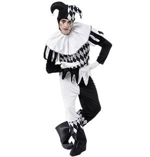 Harlequin Male costume Adult Fancy ()