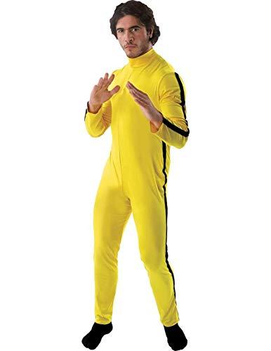 Herren Bruce Lee Gelb Kampfkünste Karneval Verkleidung Kostüm Extra ()