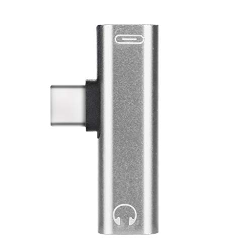 HKFV USB-C Type C to 3.5mm Kabeladapter Kopfhöreraufladung für Osmo Pocket Audioadapter (Silber)