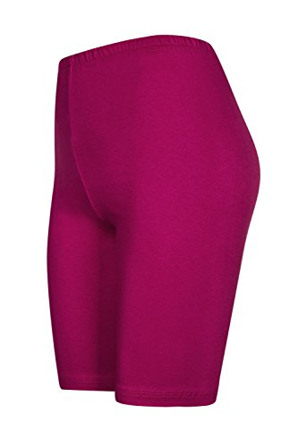 2 Stück Damen Radlerhose, Pink, L