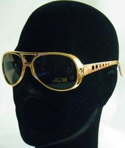 P' tit Clown 10850Occhiali plastica–Elvis–Oro