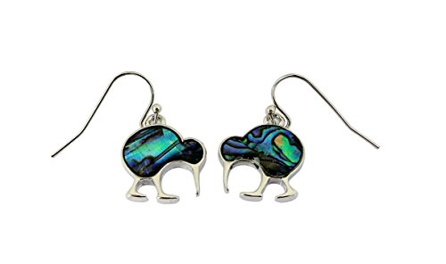 Paua/Abalone Muschel Kiwi Vogel Ohrstecker Ohrringe aus Neuseeland