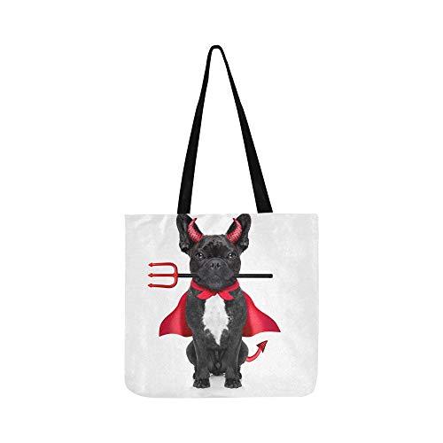 ösisch Bulldog Dog Dressed Canvas Tote Handtasche Umhängetasche Crossbody Taschen Geldbörsen Für Männer Und Frauen Einkaufstasche ()