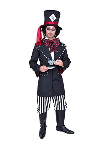 Kostüm Hatters Mad Dress Tea Fancy Party - Karnival 82162 Stecker Hatter Kostüm, Herren, groß, Schwarz
