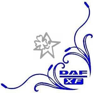 Myrockshirt 2x Dafaufkleber Xf No64 Tribal Seitenscheibe Ca 27 Cm Aufkleber Lkw Truck Tuning Trucker Sticker Decal Auto