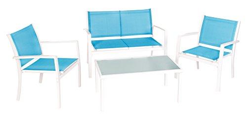 Ldk Garden Altea - Conjunto terraza, 240 x 120 x 77 cm, color azul