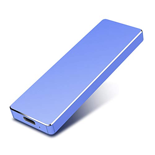 proking 2tb hard disk esterno portatile ultra slim type c usb 3.1 hard disk per pc, mac, windows, apple, xbox one, xbox 360 slim (2tb, blu)