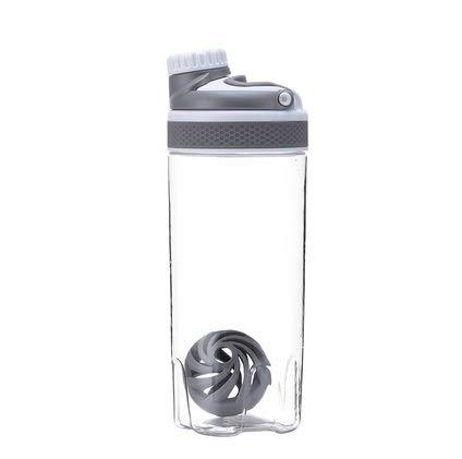 HNHX 550ml / 700ml Protein Pulver Shake Flasche Mischflasche Sport Fitness Protein Shaker Sport Wasserflasche mit Griff Isolierschale (Capacity : 700ml, Color : Gray) Gray Griff