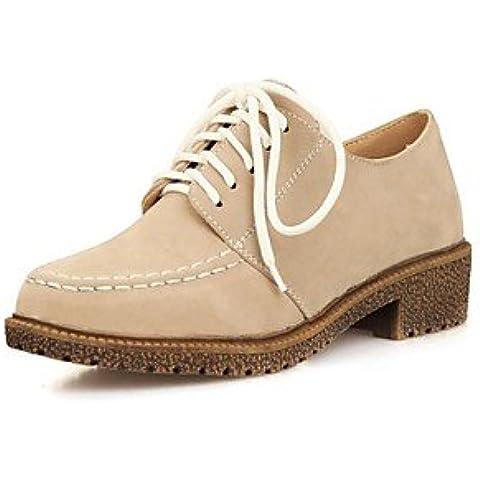 Scarpe donna Round punta tacco basso Oxfords con scarpe con lacci più colori disponibili , viola-US9.5-10 / EU41 / UK7.5-8 / CN42 , viola-US9.5-10 / EU41 / UK7.5-8 / CN42