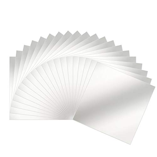 ARay Espejos de Pared Láminas Flexibles 16 Piezas, Adhesivo Espejo Forma Cuadrada Espejos Adhesivos...