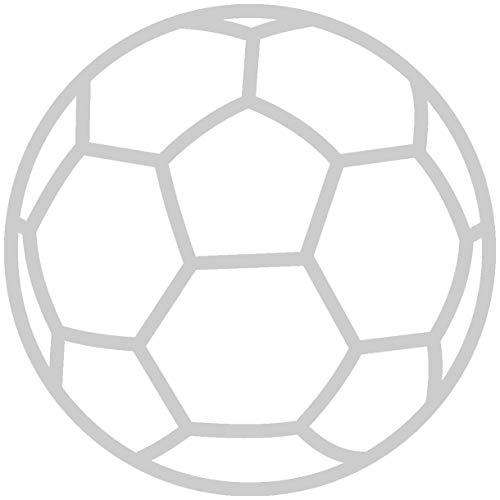 Samunshi® Autoaufkleber Handball Aufkleber in 9 Größen und 25 Farben (10x10cm silbermetalleffekt)